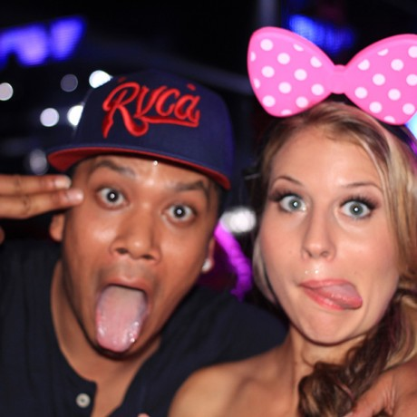DJ Chuckie and I acting silly at UMF Korea