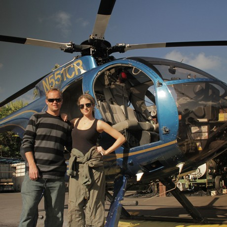 No Door Helicopter in Hawaii for Mark Cuban's HDNet Travel Show Pilot